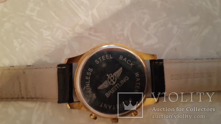 Наручные эл-мех.часы''BREITLING'' с ремнём. (имитация), фото №6