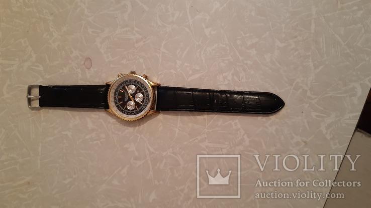 Наручные эл-мех.часы''BREITLING'' с ремнём. (имитация), фото №8
