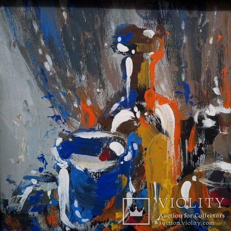 Картина «Натюрморт «Блики». Художник Ellen ORRO. дерево/акрил, 19.5х29.5, 1994 г., фото №5