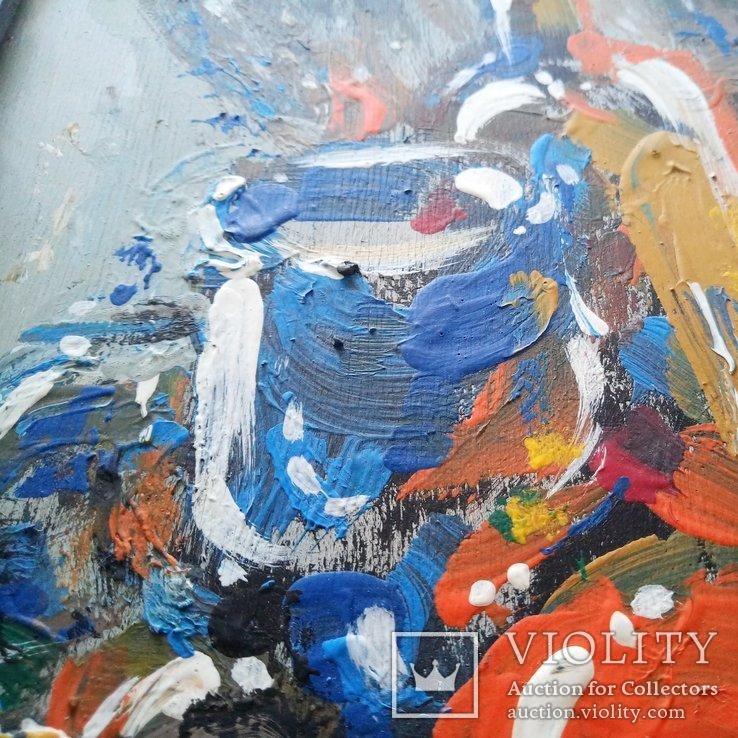 Картина «Натюрморт «Блики». Художник Ellen ORRO. дерево/акрил, 19.5х29.5, 1994 г., фото №6