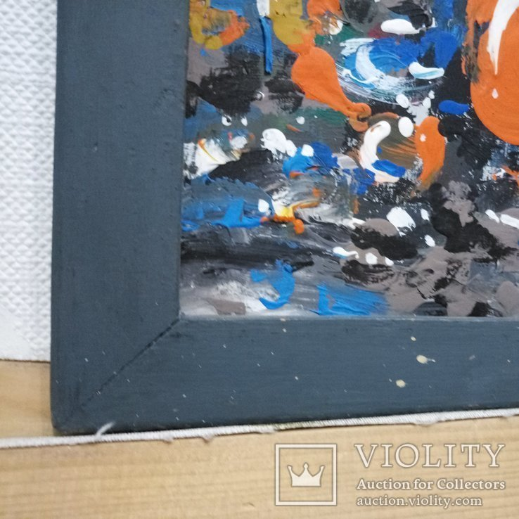 Картина «Натюрморт «Блики». Художник Ellen ORRO. дерево/акрил, 19.5х29.5, 1994 г., фото №13