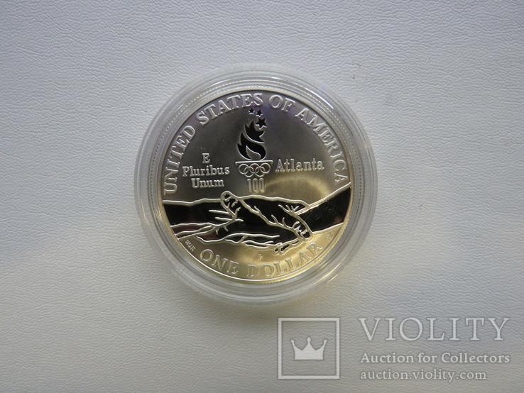 США один доллар 1995 год Атланта бег, фото №5