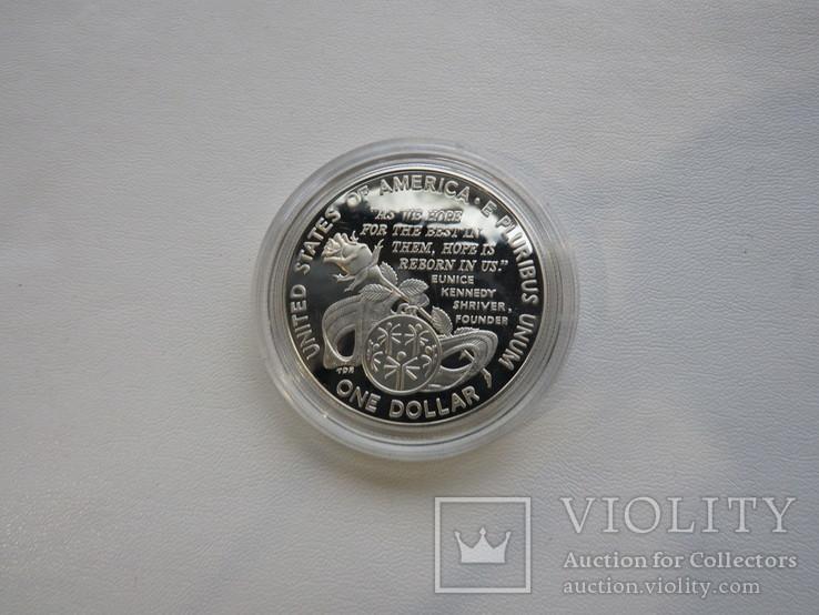 США один доллар 1995 год  Юнис Кеннеди Шрайвер, фото №4