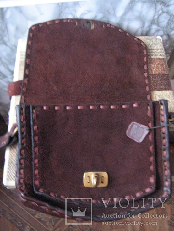 Ягдташ.сумка охотника.кожа.ручная работа(1), фото №9