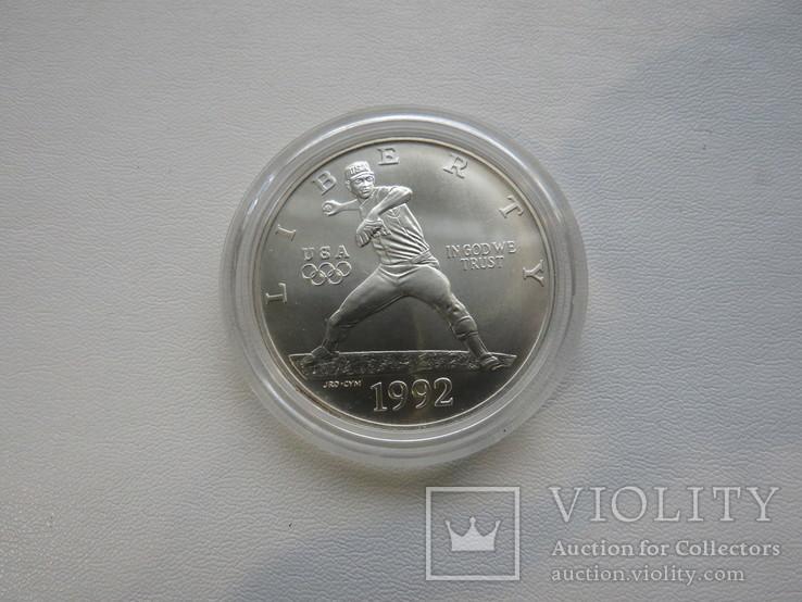 США один доллар 1992 год, фото №3