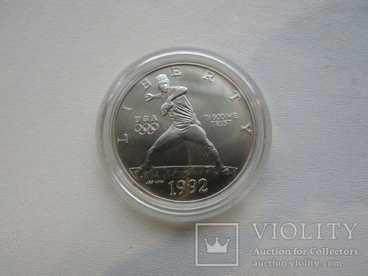 США один доллар 1992 год, фото №2