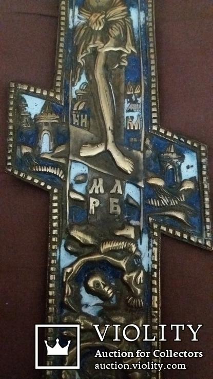 Крест 36см. Две эмали, фото №4