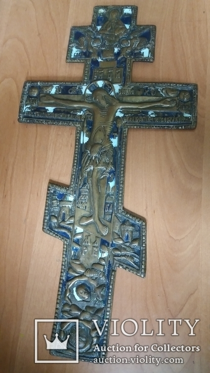 Крест 34 см две эмали, фото №2