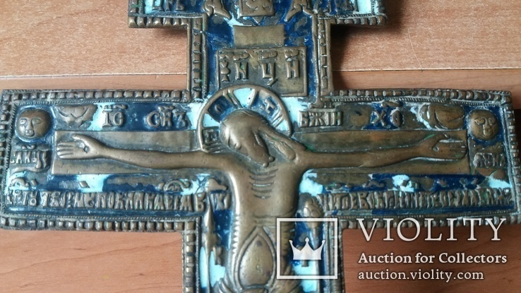 Крест 34 см две эмали, фото №6