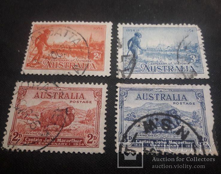 Марки Австралии 1934 года, фото №3