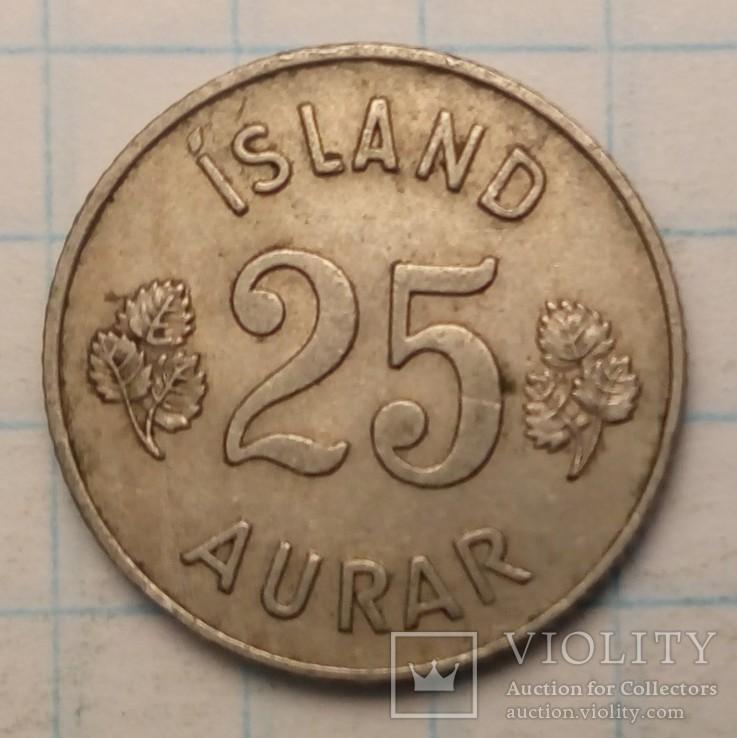 Исландия 25 эйре, 1954 год, фото №2