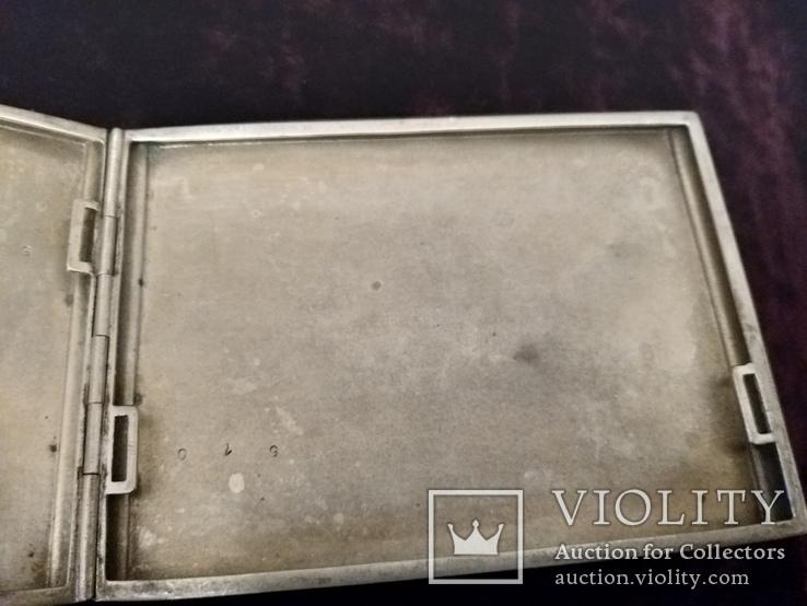 Портсигар, серебро 835 проба до 1915 года, фото №5