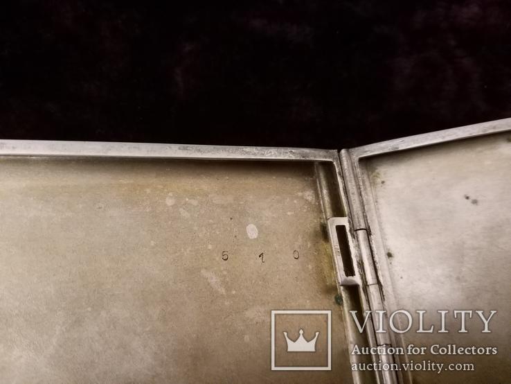 Портсигар, серебро 835 проба до 1915 года, фото №6