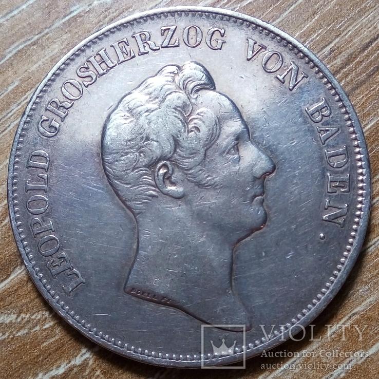 Баден  кроненталер 1833 г., фото №3