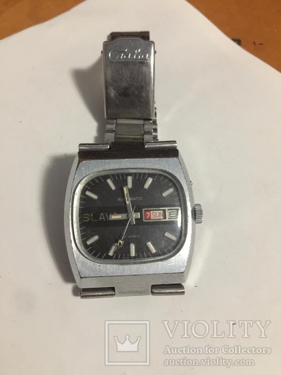Часы слава с автоподзавод За Службу 88г хром, фото №2