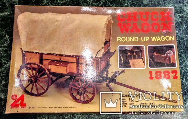 Сборная Модель Повозки Artesania Latina 1887 Chuck Wagon Round-Wagon Wooden Kit, фото №2