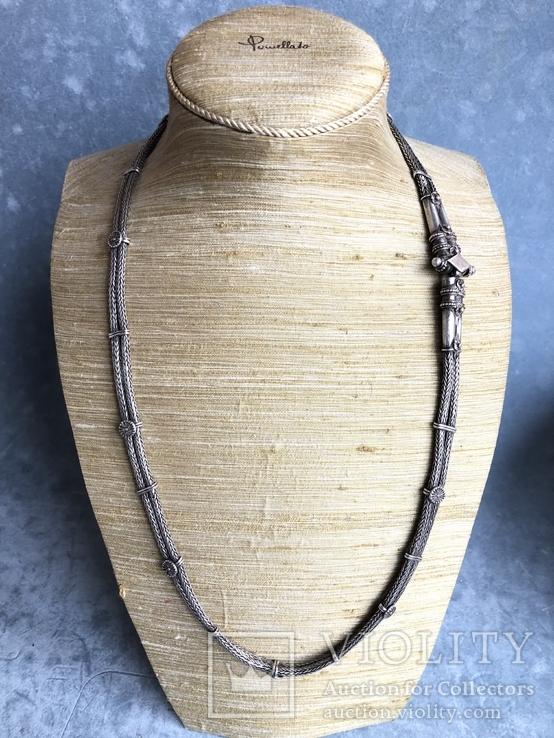 Старое серебряное украшение 113 грамм, фото №3