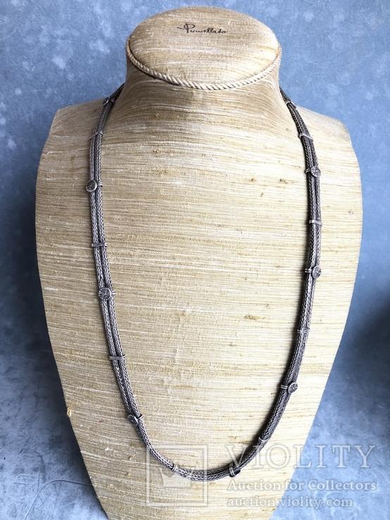 Старое серебряное украшение 113 грамм, фото №4