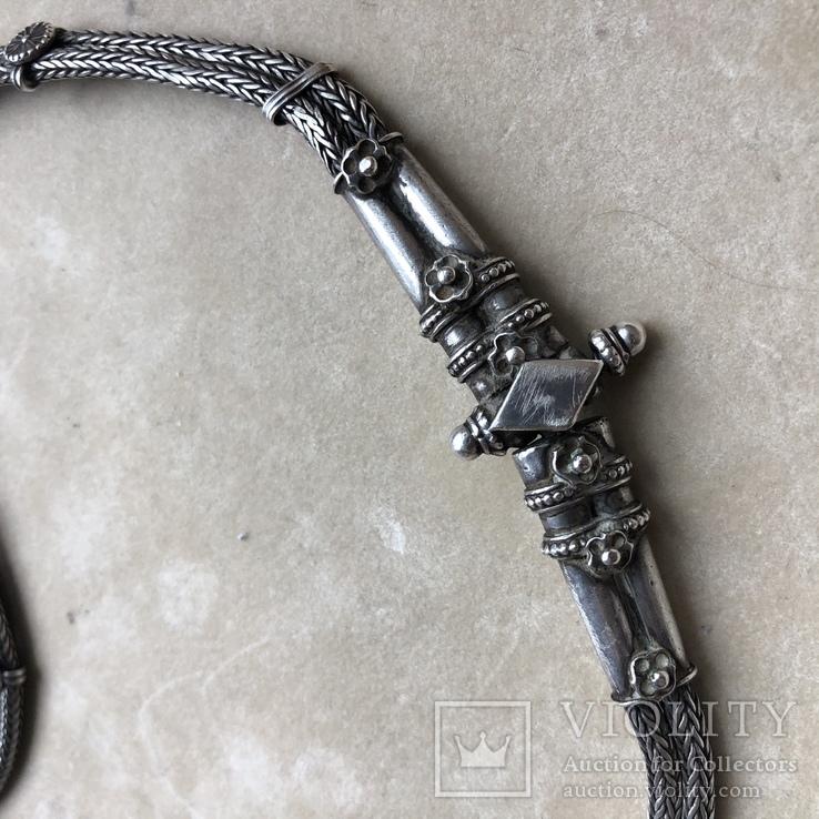 Старое серебряное украшение 113 грамм, фото №6