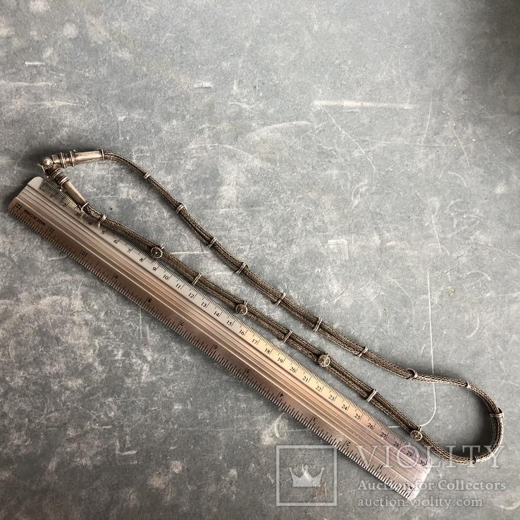 Старое серебряное украшение 113 грамм, фото №12