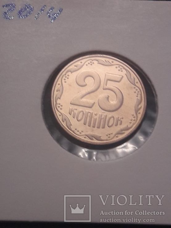 25 копеек 2014 / с набора / не магнитная / UNC, фото №3