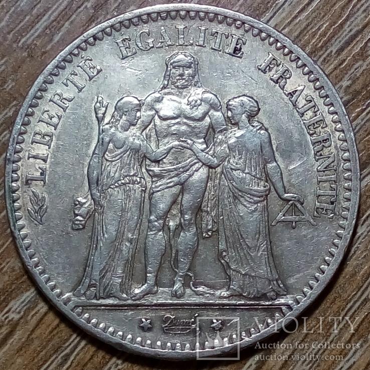 Франция 5 франков 1876 г., фото №3