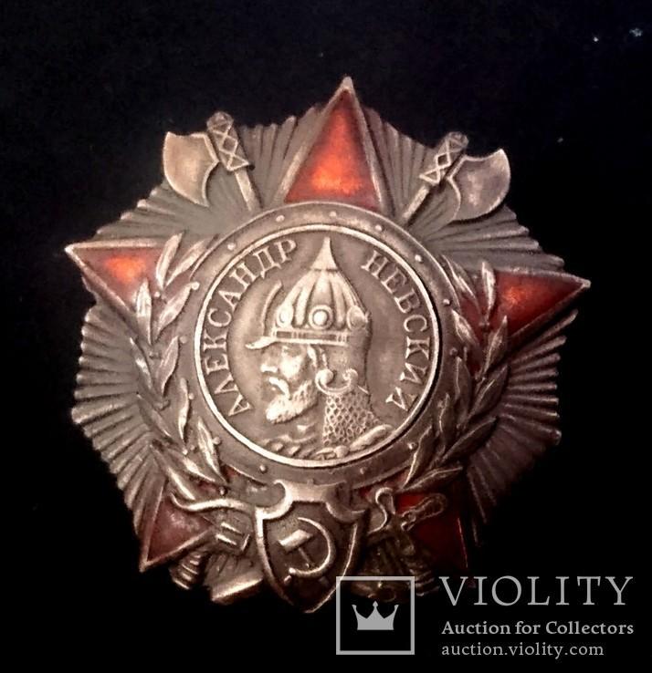 Орден Александра Невского, копия (серебро), фото №3