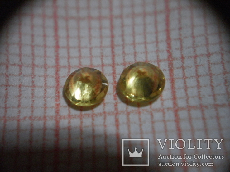 Жёлтые сапфиры огранки КР-57, фото №3