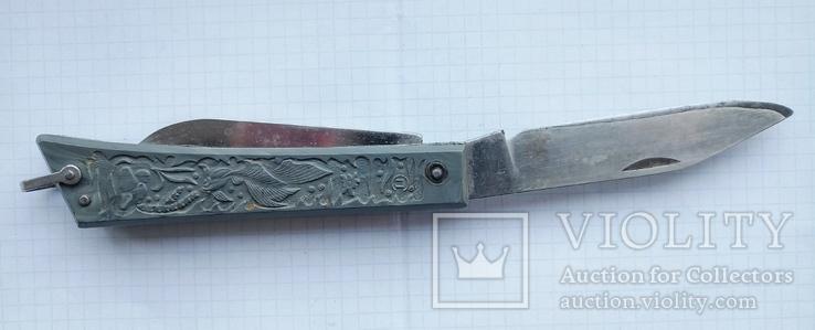 Нож туристический с рыбками (знак качества СССР), фото №4