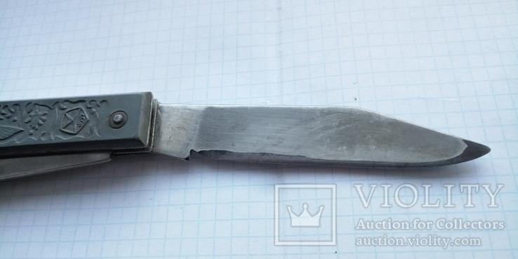 Нож туристический с рыбками (знак качества СССР), фото №5