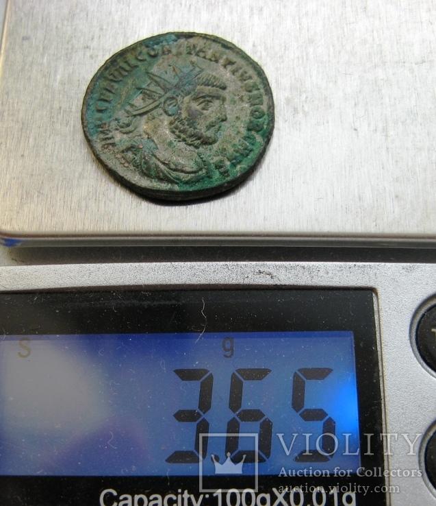 Биллоновый антониниан Constantius I Chlorus 302-303 г. н.э. - мондвор Антиохия., фото №6