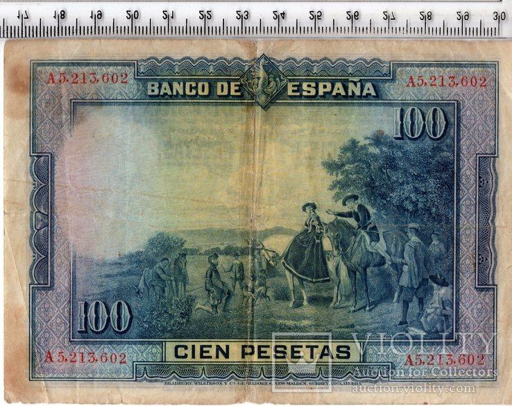 100 песет 1928 год. Испания., фото №3