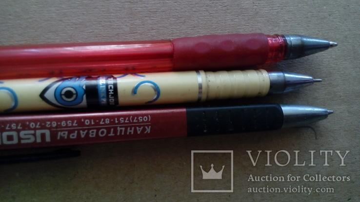 Шариковые ручки  3 шт .   Разные, фото №4