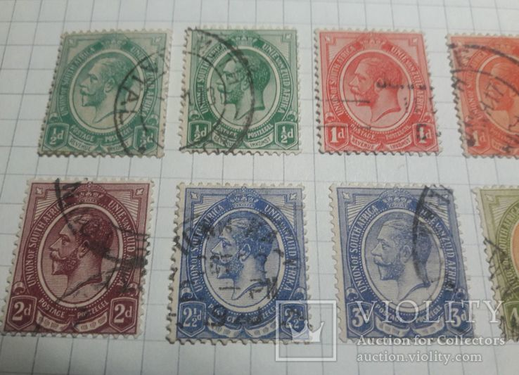 Старинные марки Южной Африки 1913- 1922 гг., фото №3