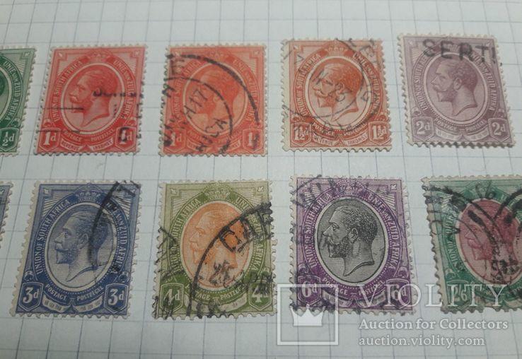 Старинные марки Южной Африки 1913- 1922 гг., фото №4
