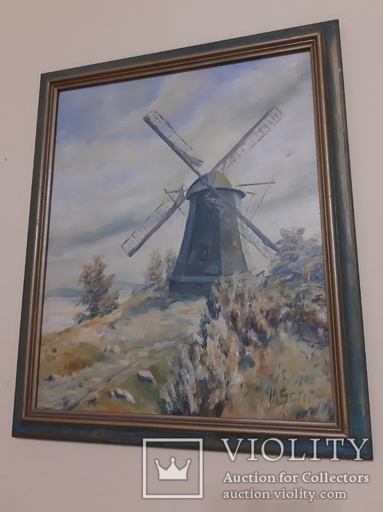 Млин (Вітряк) з Германії, підпис автора