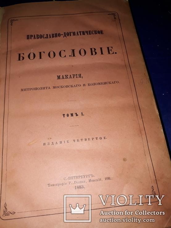 1883 Богословие Митрополита Макария, фото №2