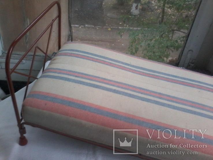 Кровать кукольная с мягким матрацем, фото №3