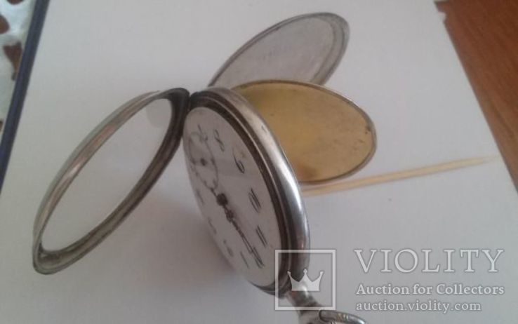 Часы карманные серебро, фото №5