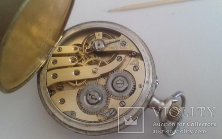 Часы карманные серебро, фото №6