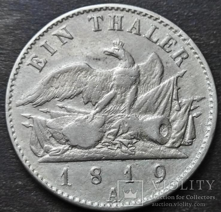 1 Талер 1819 Пруссия. Фридрих-Вильгельм III., фото №3