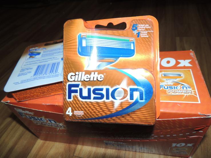 Лезвия Gillette Fusion - 4шт в упаковке, фото №2
