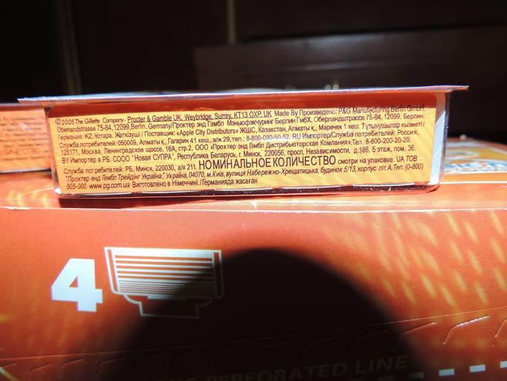 Лезвия Gillette Fusion - 4шт в упаковке, фото №4