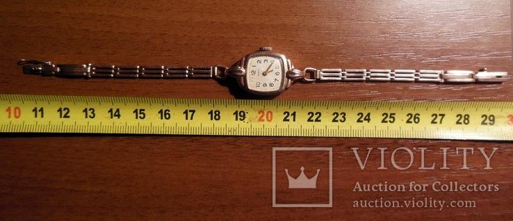 Золотые часы Заря 583 пробы с браслетом СССР, фото №4