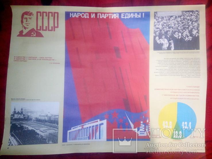 Плакат СССР      1982 год, фото №2
