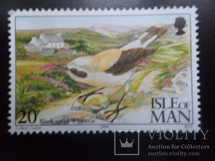 Фауна. Птицы. Остров Мэн. 1994 г.  марка MNH, фото №2