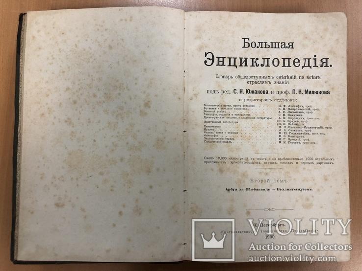 Большая энциклопедия 1900 года. 2 том. 25х17 см, фото №9