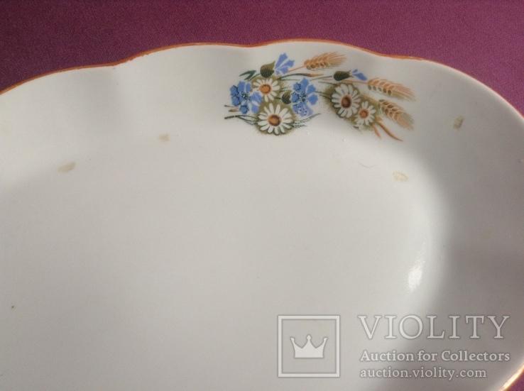 Блюдо Полевые цветы Рига., фото №9