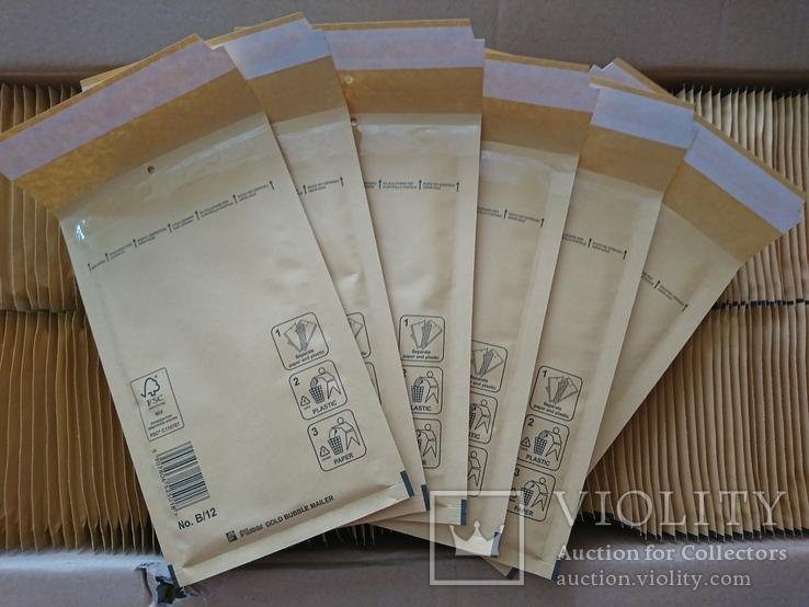 Бандерольный конверт В12 120х210, 100 шт., желтые, Польша, фото №2