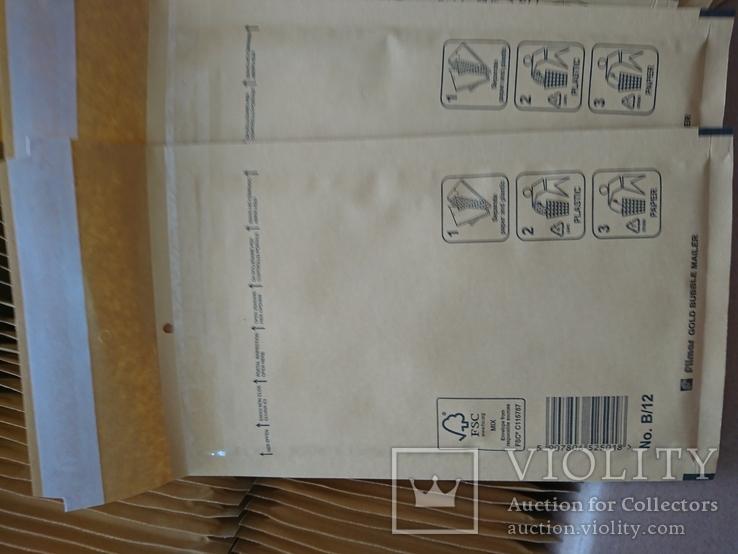 Бандерольный конверт В12 120х210, 100 шт., желтые, Польша, фото №3